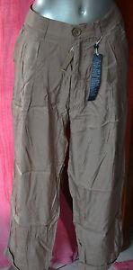 pantalones-pinza-saten-gris-pardo-HIGH-USE-talla-40-NUEVO-CON-ETIQUETAS