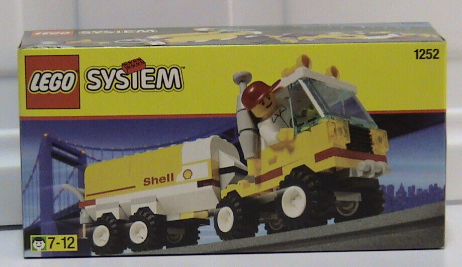 Lego Town 1252 Shell Tanker Nuevo Sellado gasolinera