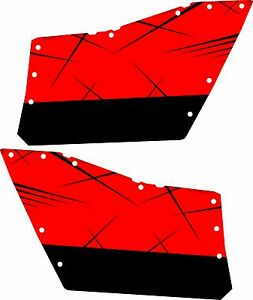 DECAL GRAPHICS POLARIS OEM DOORS RZR 570//800//900 RZR XP DOOR Razor Red
