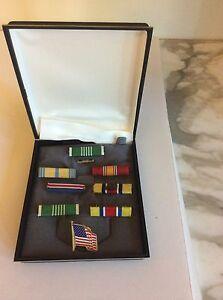 Estate-Military-Medals-Bar-Pins-Stripes