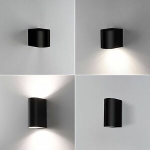 wandleuchte wandlampe up down gu10 au enlampe led au enleuchte schwarz 1267 ebay. Black Bedroom Furniture Sets. Home Design Ideas