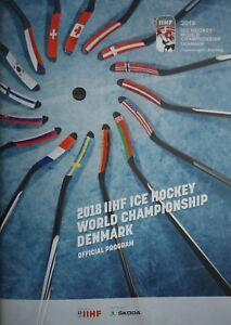 Eishockey Sammeln & Seltenes Herning Programm IIHF Eishockey WM 2018 Dänemark Kopenhagen