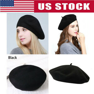 Vintage-French-Style-Beret-Hat-Soft-Wool-Warm-Cap-Beanie-Winter-Autumn-for-Women
