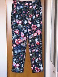 crew tous les enfiler à en 4 fleurs facile J à K4688 femmes taille Pantalon jours crêpe pour wqIEPn