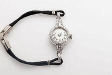Antique 1930s ART DECO $4000 .75ct Baguette Diamond Platinum Ladies Watch