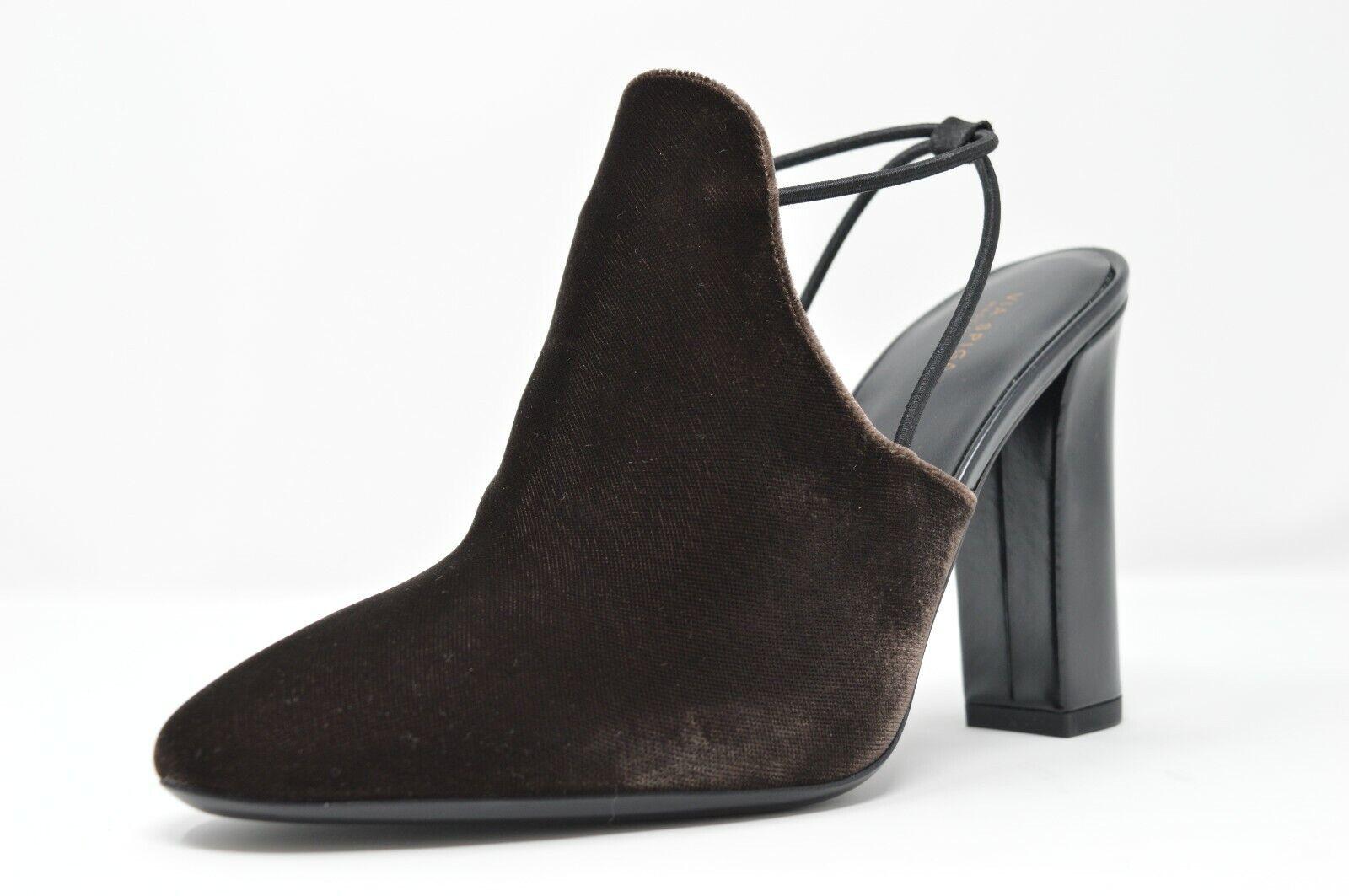 Via Spiga Arina Women's Slingback Heels shoes Brown Bark Velvet, Size 8.5 -  295