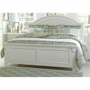 Details About Bowery Hill Queen Panel Bed In Oyster White