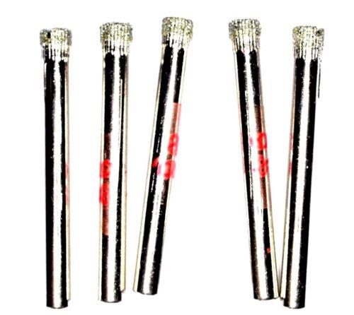 5pcs 6 mm Diamond Coated Drill Bits Trou Scie