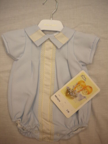 Pretty Originals Boy Romper Christening or Special Occassions 3-18mths MB10270