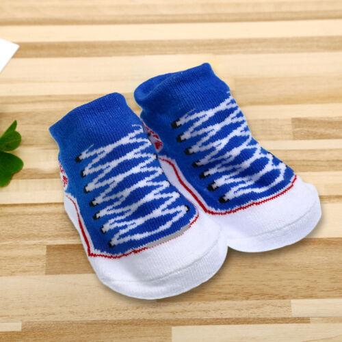 1 Pair Baby Girl Boy Anti-slip Cotton Socks Newborn Slipper Shoes 0-6 Months