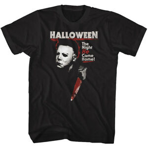 Halloween-Michael-Myers-The-Night-He-Came-Home-Adult-T-Shirt-Great-Scary-Movie