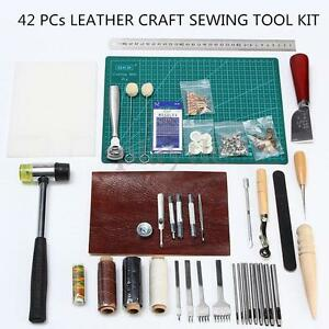 42PCs-Leather-Craft-Sewing-Tool-Kit-Set-Punch-Cutter-Groover-Beveler-Stitching-A