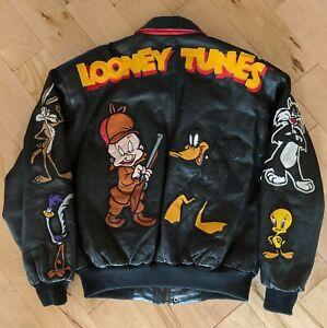 Looney-Tunes-Warner-Brothers-Original-Leather-Jacket-1997-Medium