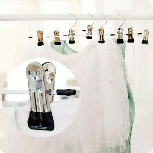 20pcs Strong Metal Trousers Clip Hanger Skirt Pants ttoo Ra Coat Clothes W6O5