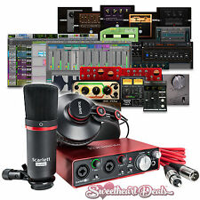 Focusrite Scarlett 2i2 (2nd Gen) Studio Recording Bundle with Pro Tools First
