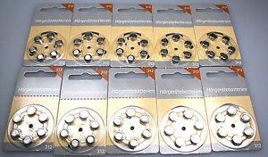 Hörgerätebatterien Größe 312 NEU 60 Stück