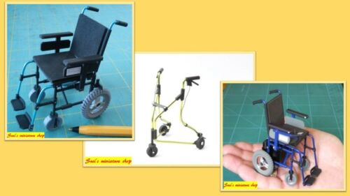 NOT REAL 1:12 dolls house miniature modern wheelchair walking aid 3 to choose