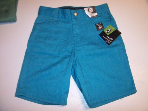 Volcom Big Youth boys khaki chino VMONTY blue turquoise shorts 10 slim 10S S