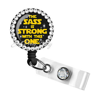 Retractable Badge Reel Name Tag ID Pull Clip Holder Star Wars Girl Gift Nurse RN