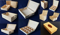Wooden Boxes Plain Wood Box Chest Storage Jewellery Craft Decoupage Many Sizes