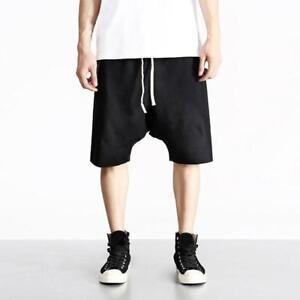 Men-Shorts-Trousers-Loose-Casual-Drop-Crotch-Short-Pants-Plus-Size-Summer-beach