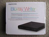 Brand Memorex External 6x Slim Portable Usb 2.0 Multi-format Blu-ray Writer