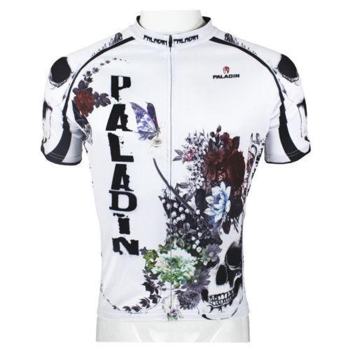 2015 Neuer Stil und Herab Tod & Flower Herren Radtrikot Bike Shirt Reiter