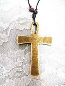 Égyptien Hématite Ankh Pendentif Croix pour Etenal Life