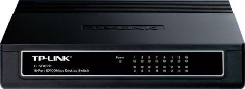 TP-Link TL-SF1016D 16-Port 10//100Mbps Desktop Switch Desktop Ports Plastic Case