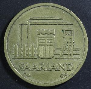 10 FRANKEN COIN 1954 YEAR KM#1 SAARLAND