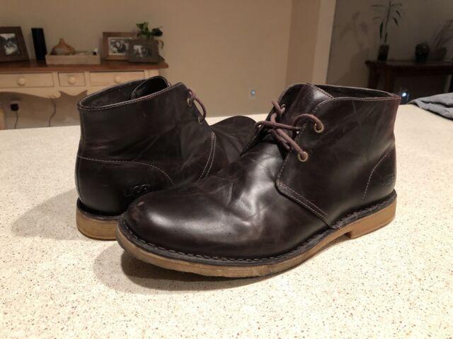 48d3bd33f72 UGG Australia Leighton Leather Chukka Ankle Desert Lace BOOTS 3275  Chocolate Men