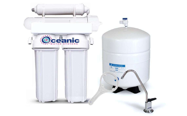 Résidentiel Eau Osmose Inverse REVERSE système de filtration 4 étape 100 GPD + RO Filters