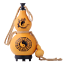 """5/"""" Chinese Natural Wine Gourd Carved Ba Gua Out Portable Water Calabash Bottle"""