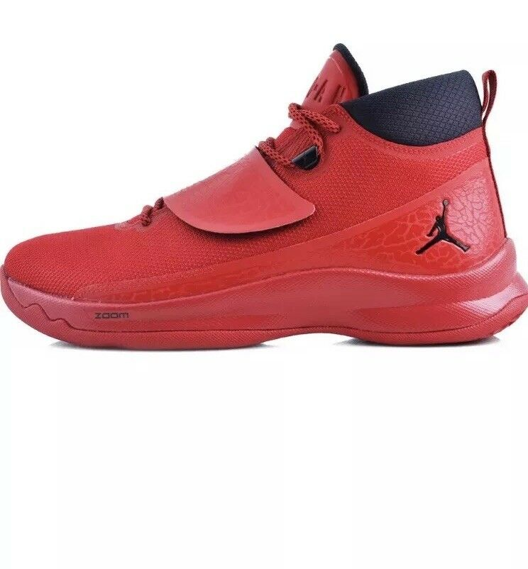 NIKE Air Jordan Mens Super Fly 5 PO Red Basketball shoes Sz 10.5 881571-601