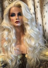 DREAMY, Human Hair Blend, LACE FRONT,Long, Multipart, Heat Friendly, Blonde Wig!