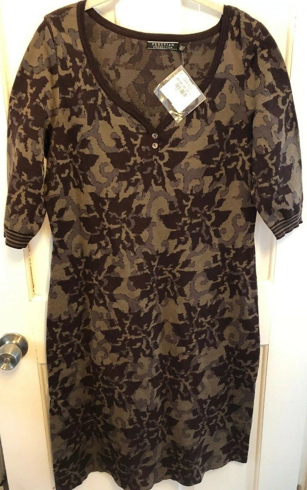 Nwt Perunian Connection Arboretum Dress L Pima Cotton