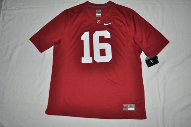 9841651ffb846 Alabama Crimson Tide Nike Mens Football Jersey NO. 16 XLarge Red New  Defective