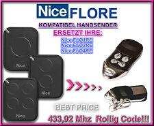 NICE FLO2RE / Nice FLO4RE kompatibel handsender / Ersatz fernbedienung 433,92Mhz
