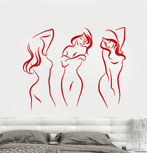 Vinyl-Wall-Decal-Beautiful-Sexy-Naked-Girls-Decor-For-Adults-Stickers-1685ig