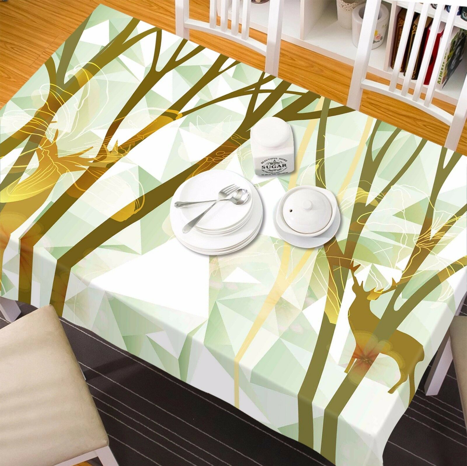 3D Deer tree75 Tablecloth Tablecloth Tablecloth Table Cover Cloth Birthday Party Event AJ WALLPAPER UK 88bd28