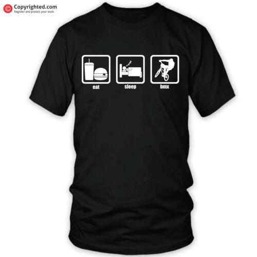 BMX EAT SLEEP t-shirt ideal gift for Christmas birthday bike helmet mafiabikes