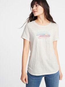 ed4389d2766b Old Navy - EveryWear Graphic Slub-Knit Tee for Women Size Medium NWT ...