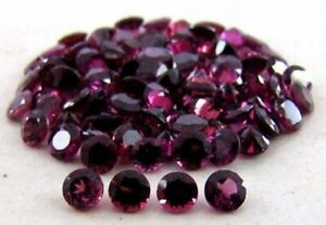 Lot-Of-3x3mm-10x10mm-Round-Faceted-Cut-Natural-Rhodolite-Garnet-Loose-Gemstone