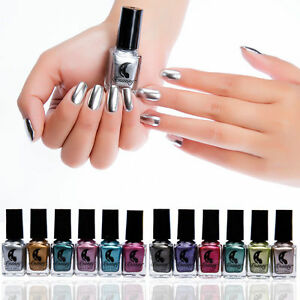 Image Is Loading Mirror Effect Nail Polish Metallic Chrome Art