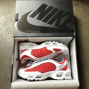 5738211ba6 DS NEW Mens Nike Lab X Supreme Air Max Tailwind 4 IV White Red Sz ...