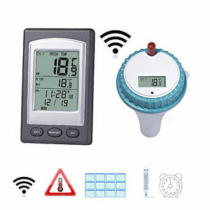 Remote floating wireless swimming pool thermometer water - Swimming pool water temperature gauge ...
