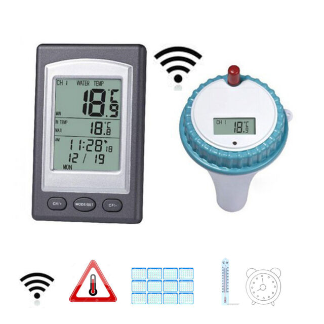 wireless digtal floating swimming pool thermometer water temperature