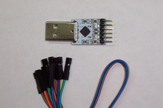USA! 1 PC OF A WHITE USB 2.0 TO TTL UART CP2102 6 PIN SERIAL CONVERTER MODULE