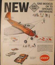 1966 Cox Gas Powered Model Corvette Sting-Ray Vintage Toy Memorabilia Promo AD