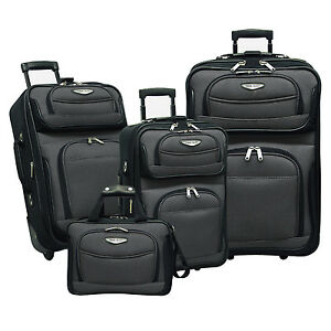 Travel Select Amsterdam Gray 4-Piece Expandable Rolling Luggage ...